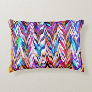 Vibrant color abstract pattern decorative cushion