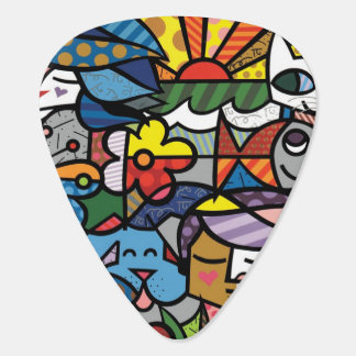 Vibrant color abstract plectrum