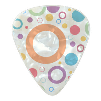 Vibrant color circles pearl celluloid guitar pick