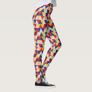 Vibrant color pattern leggings
