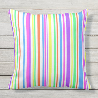 Vibrant color stripes outdoor cushion