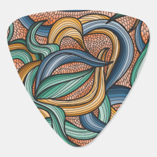 Vibrant colored abstract pattern guitar pick