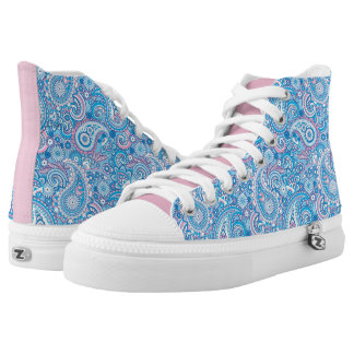 Vibrant colored abstract pattern high tops