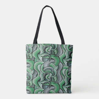 Vibrant colored abstract pattern tote bag
