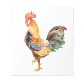 Vibrant colored Rooster Notepad