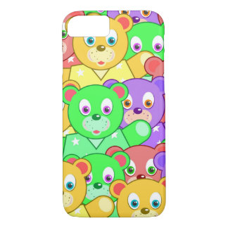 Vibrant colored Teddy Bears iPhone 7 Case