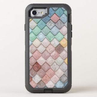 Vibrant Colored Tile Pattern OtterBox Defender iPhone 8/7 Case