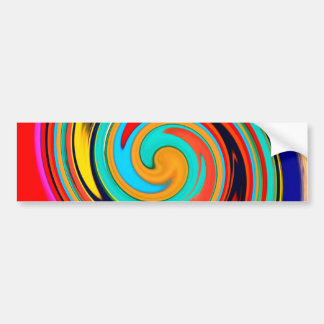 Vibrant Colorful Abstract Swirl of Melted Crayons Bumper Sticker