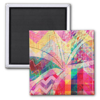 Vibrant Colorful Funky Abstract Girly Butterfly Ch Magnet