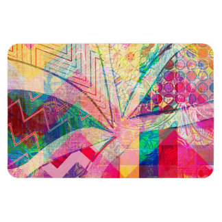 Vibrant Colorful Funky Abstract Girly Butterfly Ch Rectangle Magnets