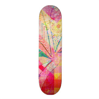 Vibrant Colorful Funky Abstract Girly Butterfly Ch Skateboard