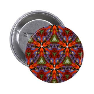 Vibrant Colorful Funky Kaleidoscope Pattern 6 Cm Round Badge