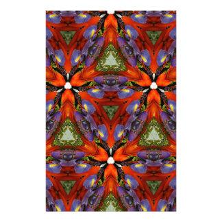 Vibrant Colorful Funky Kaleidoscope Pattern Stationery Paper