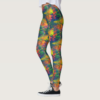 Vibrant Colors Abstract Pattern Leggings