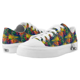 Vibrant Colors Abstract Pattern Low Tops
