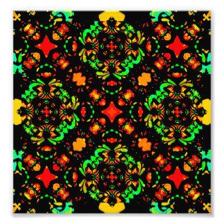 Vibrant Colors Refined Ornament Photo Print