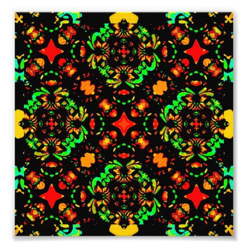 Vibrant Colors Refined Ornament Photo Print