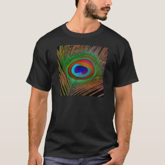 Vibrant Copper Peacock Feather T-Shirt
