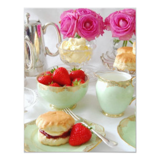 Vibrant Cream Tea Summer Party Invitation