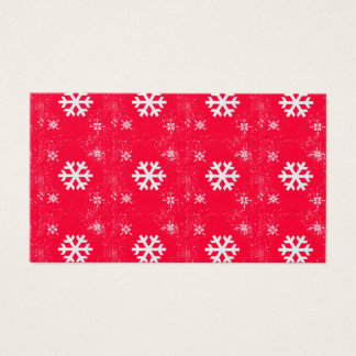 Vibrant Cute Christmas SnowFlakes Business Card