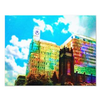 vibrant downtown 11 cm x 14 cm invitation card
