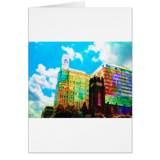 vibrant downtown greeting card