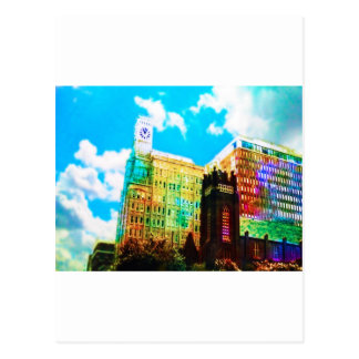 vibrant downtown post card