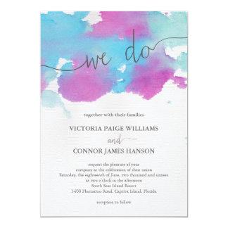 """Vibrant Dreams Wedding Invitation 5"""" X 7"""" Invitation Card"""