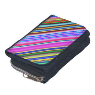 Vibrant & Eyecatching Multicolored Stripes Pattern Wallet
