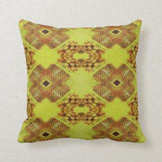 Vibrant Fall Yellow Modern Pattern Cushion