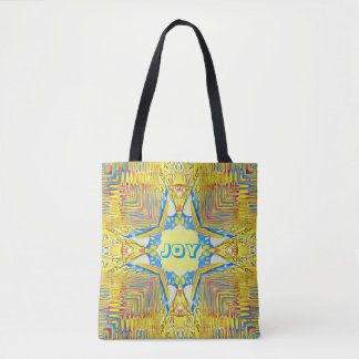 "Vibrant Festive Inspirational ""JOY"" Uncommon Tote Bag"