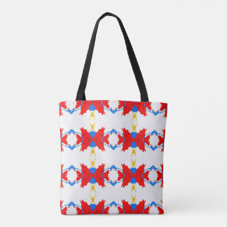 Vibrant Festive Multi+Colored Patriotic Design Tote Bag