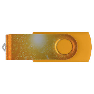 Vibrant floral abstract. USB flash drive