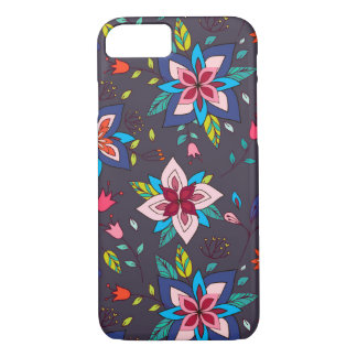 Vibrant Floral and Bird Patterns iPhone 7 Case