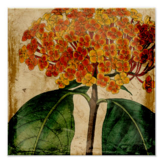 Vibrant Floral I Poster