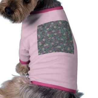 Vibrant Floral Mosaic Trendy Colorful Pattern Art Dog T Shirt