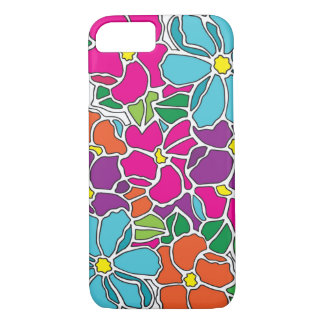 Vibrant Floral Stained Glass iPhone 7 Case
