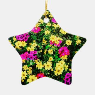 Vibrant Flower Bed Christmas Ornament