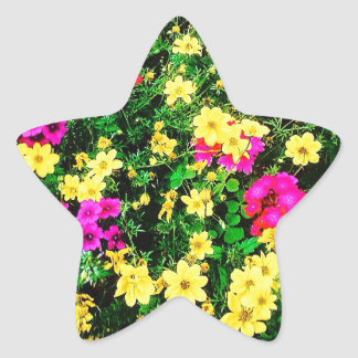 Vibrant Flower Bed Stickers