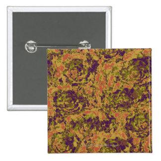 Vibrant flower camouflage pattern 15 cm square badge