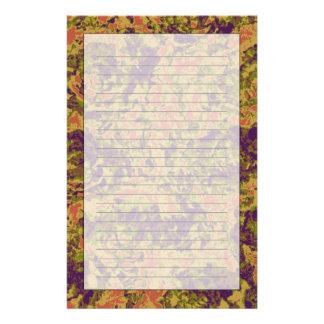 Vibrant flower camouflage pattern customised stationery