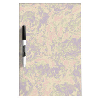 Vibrant flower camouflage pattern dry erase board