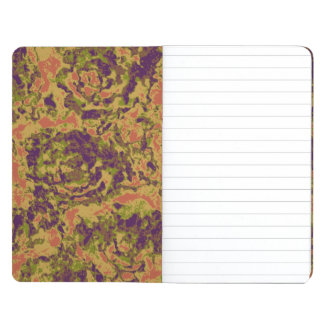 Vibrant flower camouflage pattern journal