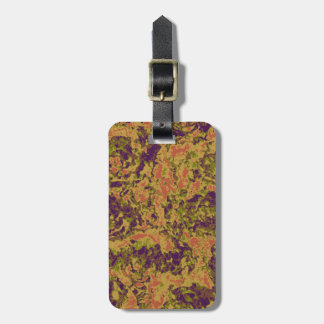Vibrant flower camouflage pattern luggage tag