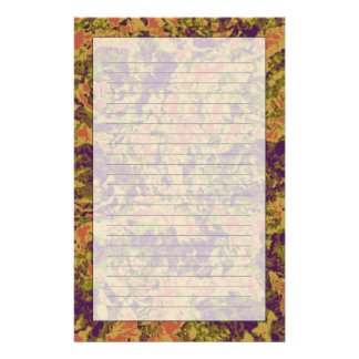 Vibrant flower camouflage pattern stationery