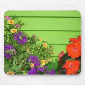 Vibrant Flowers Mouse Mat