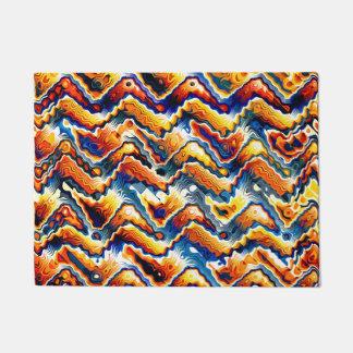 Vibrant Geometric Motif Doormat
