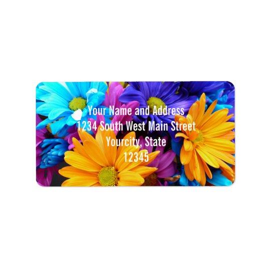 Vibrant Gerbera Daisy Bouquet Address Label