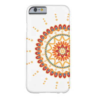 Vibrant Golden Sun and Floral Mandala Barely There iPhone 6 Case