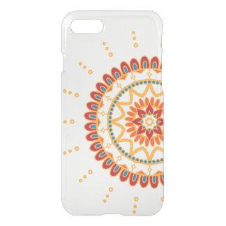 Vibrant Golden Sun and Floral Mandala iPhone 7 Case